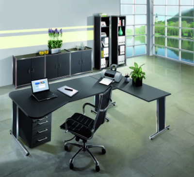 Artoline Freestanding Return Desk Set Up