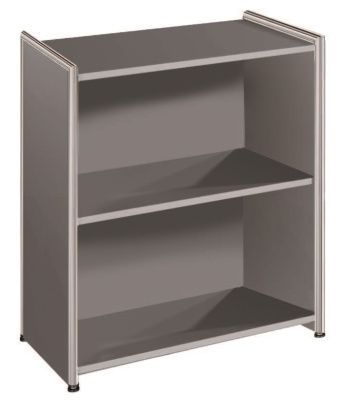 Artoline Low Bookcase Unit Wide In Anthracite