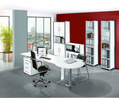 Artoline Office Set Up In White