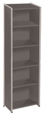 Artoline High Bookcase Unit Narrow In Anthracite