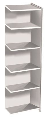 Artoline High Extension Bookshelf Narrow In White