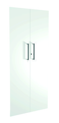 Zed Style High Cupboard Doors In White