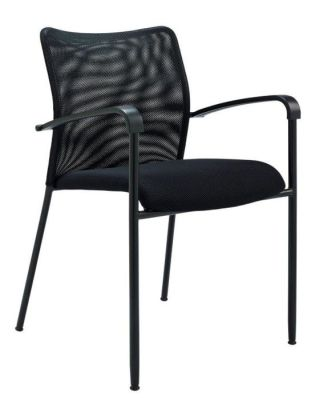 Bostromi Mesh Conference Chair Side On In Black