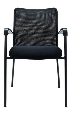 Bostromi Mesh Conference Chair Front On In Black