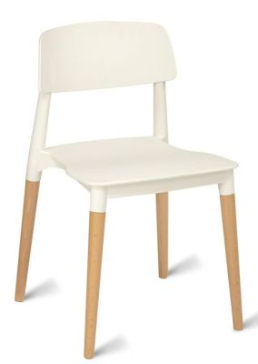 Jendo Poly Beech Chairs White Seat