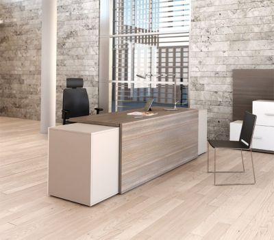 Reception Desk In Cedar And Limestone