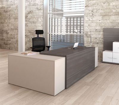 Cedar And Limestone Reception Desk