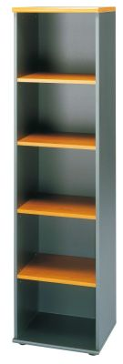Jazz Tall Slim Executive Bookcase In A Warm Alder Finish