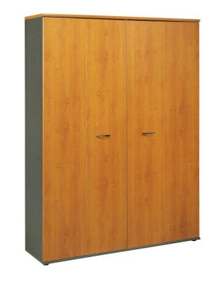 Jazz Executive Wide Tall Cupboard With Folding Doors In A Alder Finish With Designer Handles