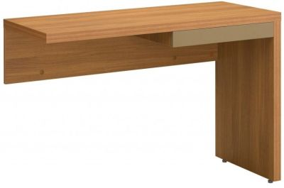 Silver Universal Desk Return Including Pencil Drawer In A Rich Walnut Finish