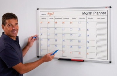 Monthly Planner Dry Wipe Whiteboard