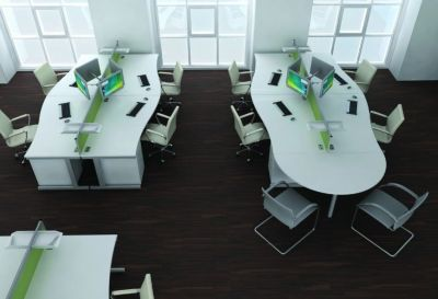 Open-plan Office Using Avalon Wave Desks And Office Chairs In White