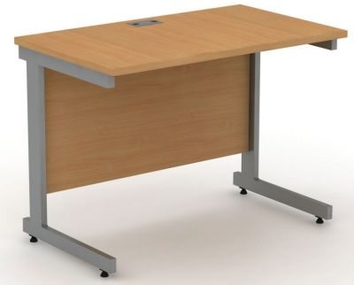 Avalon Freestanding, Space Saving Office Desk With Levellers For Uneven Floors In Beech
