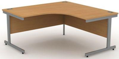 Avalon Extra Large, Steel Framed Corner Desk In Beech