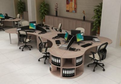 Open Plan Office Layout Using Avalon Range Of Furniture