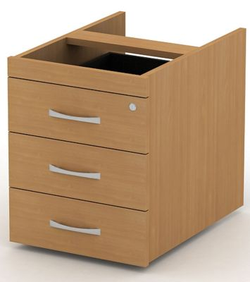 Avalon Suspended Desk Pedestal With Designer Handles And Lockable Storage Drawers