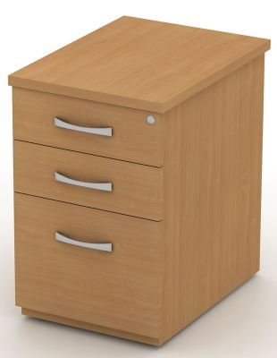Avalon Extra High Pedestal With Two Drawers And Filing Drawer Which Will Take Foolscap Vertical Files In Attractive Beech With Central Locking