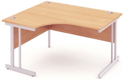 Mansfield 1400mm Left Hand Corner Desk In Beech