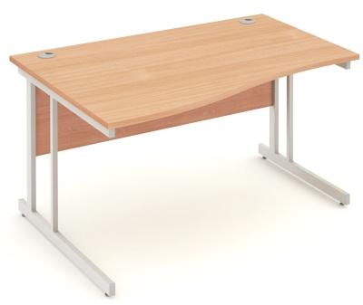 Mansfield 1200 Left Hand Wave Desk In Beech
