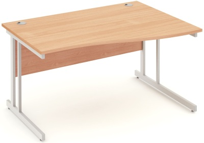 Mansfield 1400 Right Hand Wave Desk In Beec