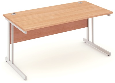 Mansfield 1600mm Desk In Beech