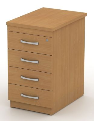 Avalon Deep Four Drawer Pedestal, Lockable For Extra Security And Scratch Resistent Finish