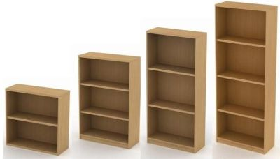 Avalon Bookcases With Fixed Shelves, Four Different Sizes In Beech