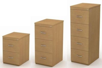 Avalon Wood Filing Cabinets In 2,3 Or 4 Drawer In Beech With Bow Handles