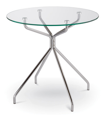 Turin Circular Glass Table
