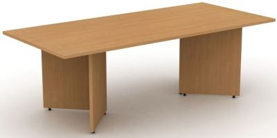 Avalon Rectangle Conference Table With Arrowhead Stand In Beech