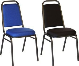 PB Banqueting Chair In Cobolt Blue Or Black With Welded Legs, Stackable With Multiple Uses