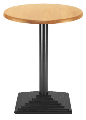 Florida Cafe Table With A Black Square Base And Round Column