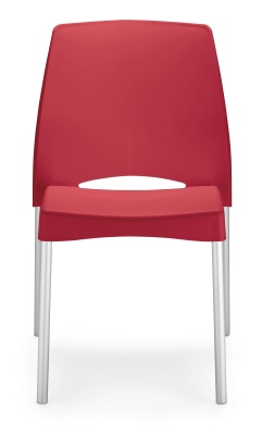 Solar Outdoor Red Plastic Chair