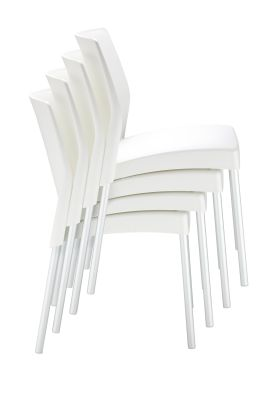 White Outdoor Thermoplastic Chairs