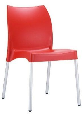 Babatti Polypropylene Chair In Red, Easy Clean Stain Resistant
