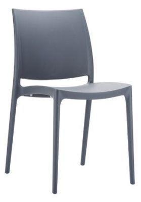 Maya Designer Polypropylene Multipurpose Chair In Dark Grey