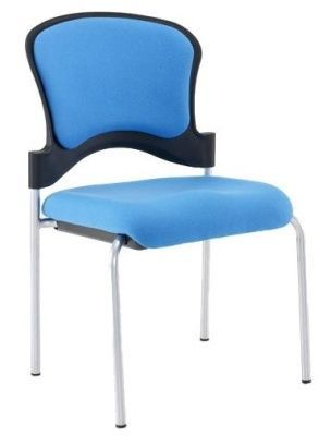 Sonata Conference Chair With Blue Upholstery For Extra Comfort, Delivered Assembled