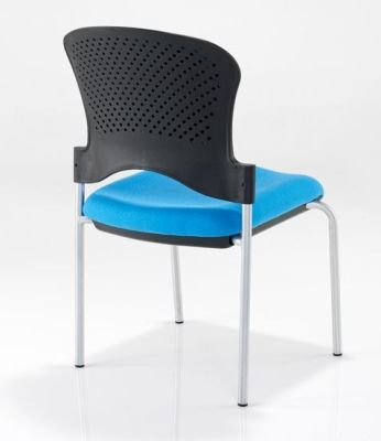 Sonata Designer Conference Chair With Upholstered Seat And Back For Comfort In Blue