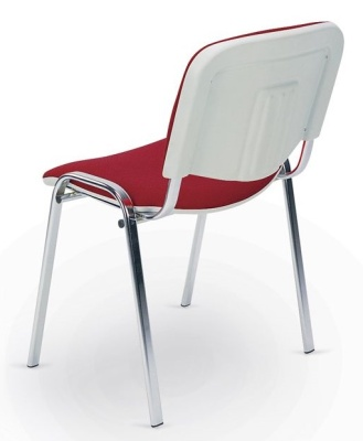 Stakka Chair Chrome Frame White Back