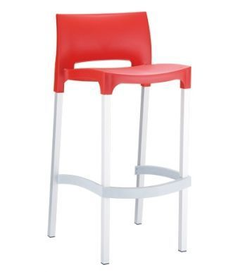 Geo Bar Stool Red