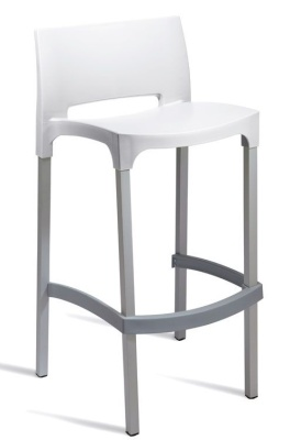 Geo High Stool White