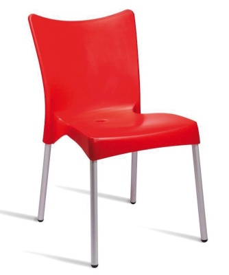 Zapster Outdoor Poly Chair Red