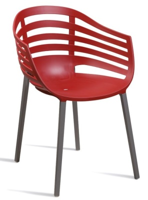 Kirby Red Plastic Outdoor Chair