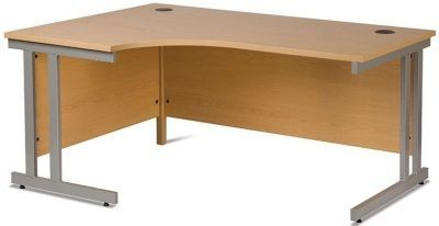GX Left Hand Corner Computer Desk With Heavy Duty Frame And Anti Shock Edge Protection For Ergonomic Use In Beech Finish