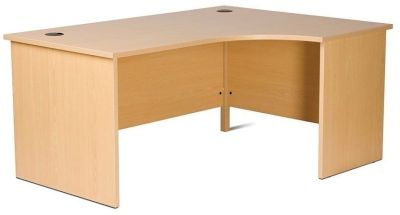 Gx Right Hand Corner Desk With Classic Side Panel Leg Design In Beech