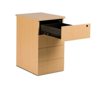 GX Desk Height Pedestal Comprising4 Shallow Drawers With Hardwood Base, Lockable For Increased Security Delivered Assembled