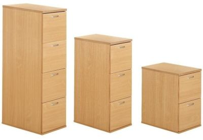Taurus Wooden Filing Cabinets In Beech Three Different Sizes With Steel Runners For Extra Strength