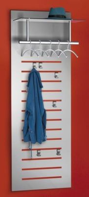 Tec Art Designer Space Saving Wall Mounted Coat Stand With Hat Stand, Hooks And Hangers