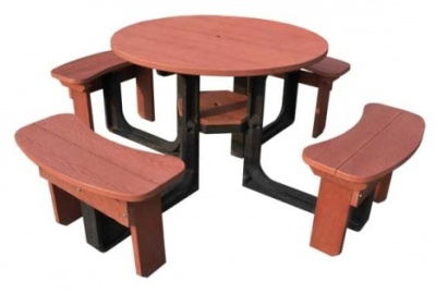 Rustique Plastic Four Seater Picnic Table