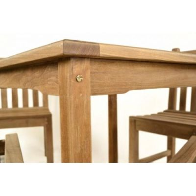 Coventry Teak Outdoot Dining Set Detail